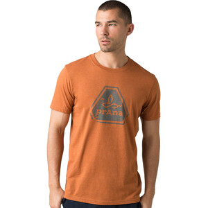 Prana Icon Kurzarm T-Shirt Herren russet heather russet heather