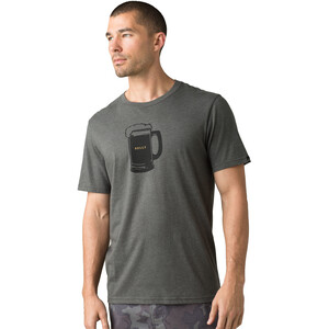 Prana Beer Belly Journeyman Kurzarm T-Shirt Herren charcoal heather charcoal heather