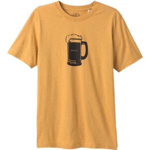 Prana Beer Belly Journeyman Camiseta Manga Corta Hombre, Dorado Dorado