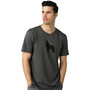Prana Wolf Pack Journeyman Kurzarm T-Shirt Herren charcoal heather