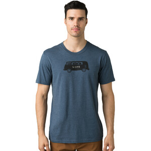 Prana Will Travel Journeyman Kurzarm T-Shirt Herren denim heather denim heather