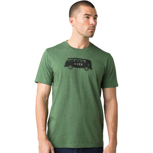 Prana Will Travel Journeyman Kurzarm T-Shirt Herren pineneedle heather pineneedle heather