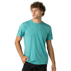 Prana Rundhals T-Shirt Herren azurite heather azurite heather