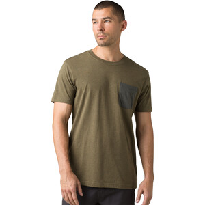 Prana Pocket T-Shirt Herren slate green heather slate green heather