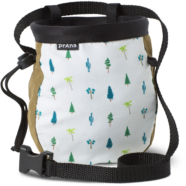 Prana Graphic Chalk Bag mit Gürtel woodland green trees