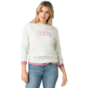 Prana Graphic Rundhals Sweatshirt Damen white wander white wander