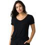 Prana Foundation Kurzarm V-Ausschnitt Shirt Damen black