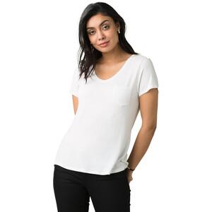 Prana Foundation Kurzarm V-Ausschnitt Shirt Damen white white
