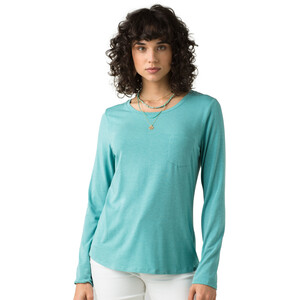 Prana Foundation LS Crew Neck Top Damen azurite heather azurite heather