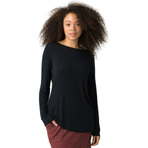 Prana Foundation LS Crew Neck Top Damen black black