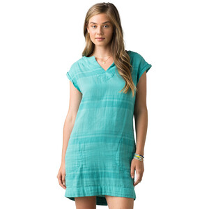 Prana Kai Kleid Damen retro teal stripe retro teal stripe