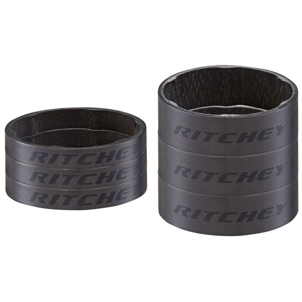 Ritchey WCS Spacersæt Carbon 3x10mm 3x10mm/3x5mm, sort