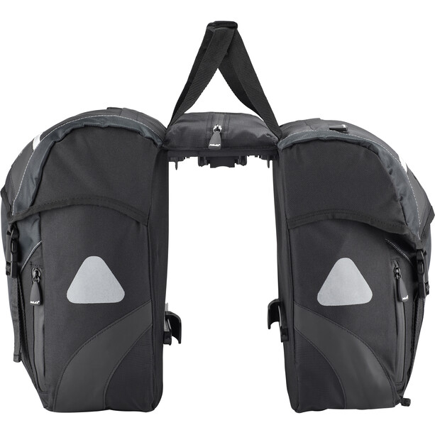 XLC Carry More Doppelpacktasche 30l inkl. Adapter black/anthracite