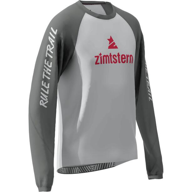 Zimtstern PureFlowz Langarmshirt Herren glacier grey/gun metal/cyber red