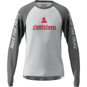 Zimtstern PureFlowz T-shirt Manches longues Homme, glacier grey/gun metal/cyber red glacier grey/gun metal/cyber red