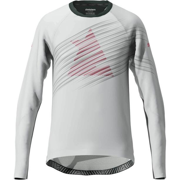 Zimtstern ProTechZonez T-shirt Manches longues Homme, glacier grey/pirate black