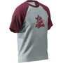 Zimtstern Botz T-Shirt Herren glacier grey/windsor wine