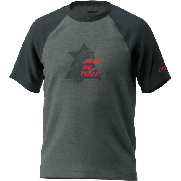 Zimtstern Botz T-Shirt Herren gun metal melange/pirate black
