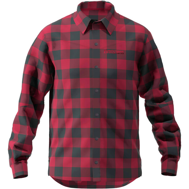 Zimtstern Timbaz T-shirt Manches longues Homme, jester red/pirate black