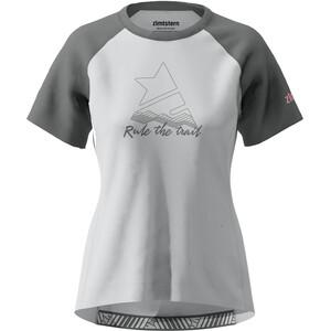 Zimtstern PureFlowz Kurzarmshirt Damen glacier grey/gun metal/blush glacier grey/gun metal/blush
