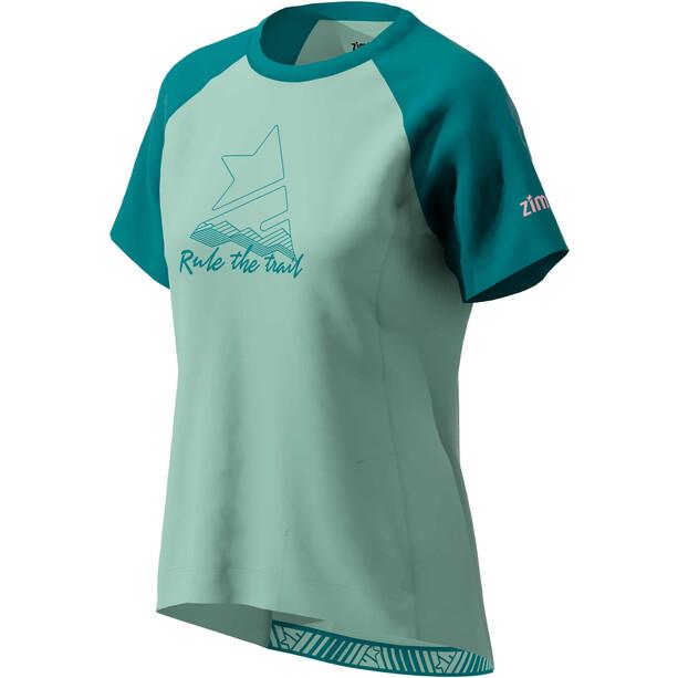 Zimtstern PureFlowz SS-skjorte Dame turkis
