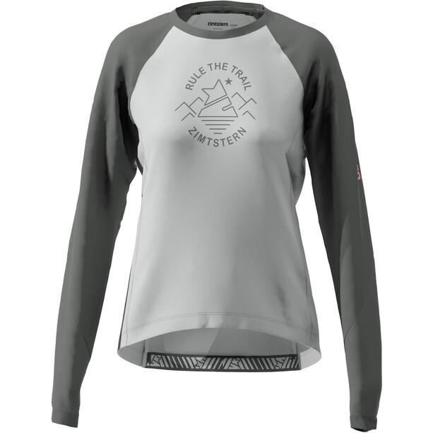 Zimtstern PureFlowz Langarmshirt Damen glacier grey/gun metal/blush