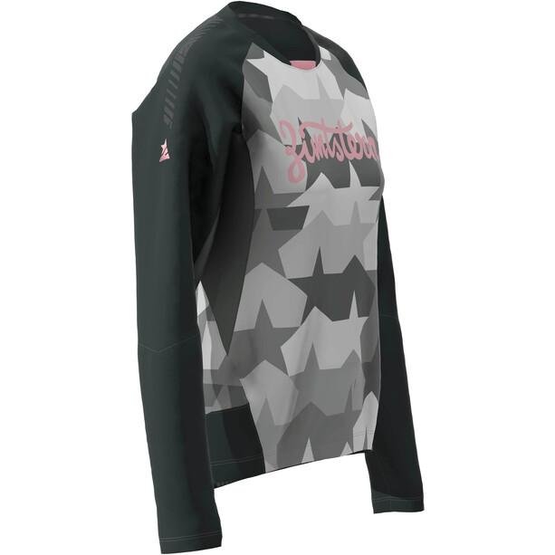 Zimtstern TechZonez LS-skjorte Dame Grå/Svart