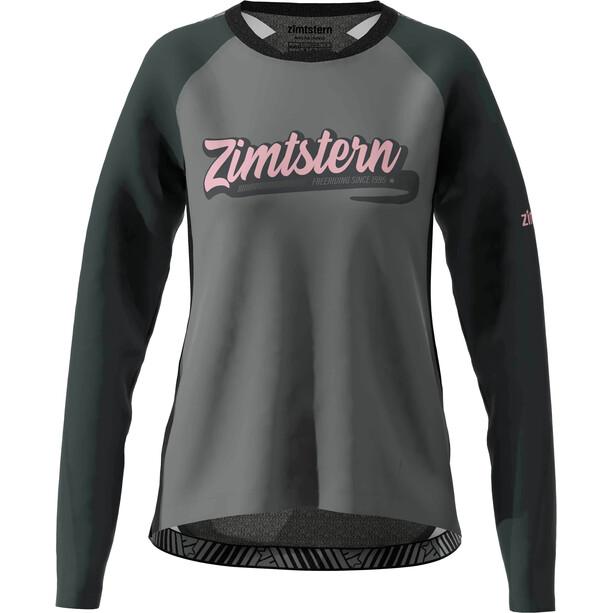 Zimtstern ProTechZonez Langarmshirt Damen glacier grey/pirate black