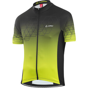 Löffler Evo Full-Zip Fahrradtrikot Herren black/light green black/light green