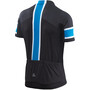 Löffler Pace Full-Zip Fahrradtrikot Herren black/brilliant blue