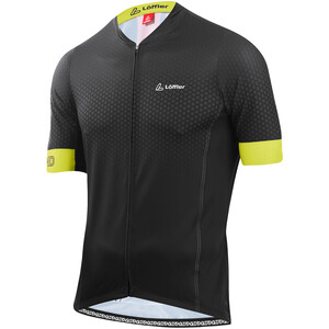 Löffler hotBOND RF Full-Zip Fahrradtrikot Herren black/light green black/light green