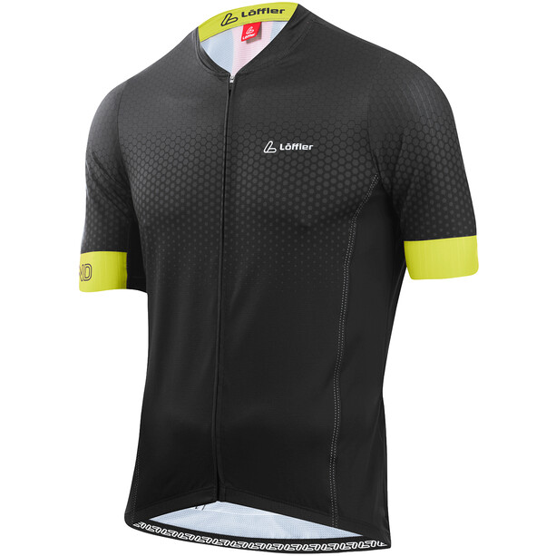 Löffler hotBOND RF Full-Zip Fahrradtrikot Herren black/light green