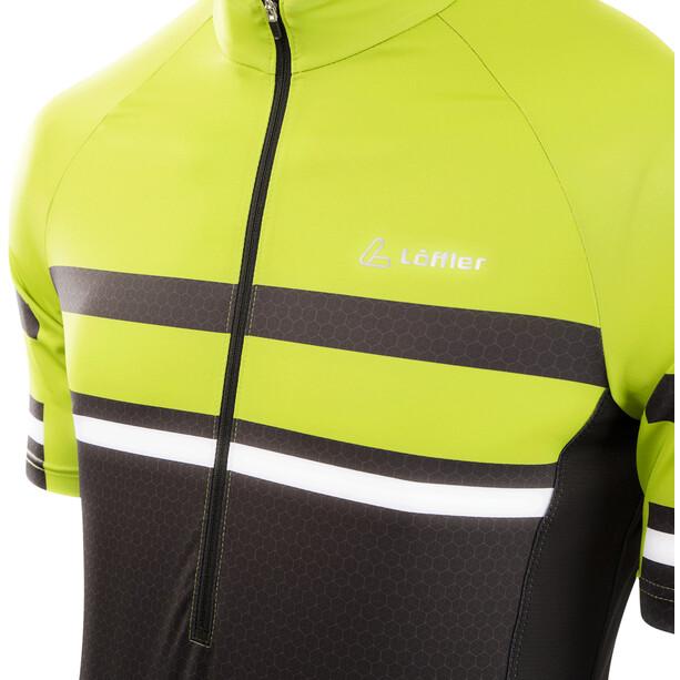 Löffler hotBOND RF Half-Zip Fahrrad Trikot Herren black/light green