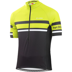 Löffler hotBOND RF Half-Zip Fahrrad Trikot Herren black/light green black/light green