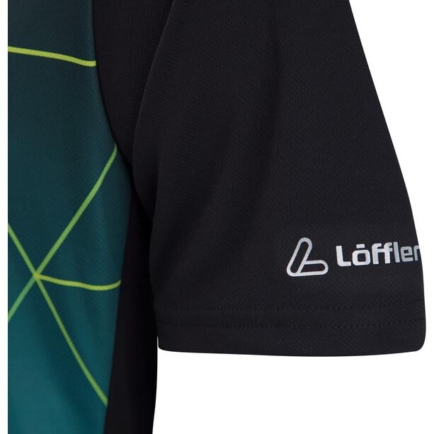 Löffler Evo Half-Zip Fahrrad Shirt Herren black/enamel blue
