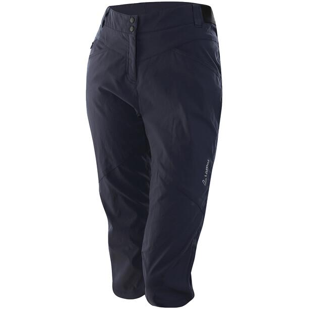 Löffler CSL Pantalon de cyclisme 3/4 Femme, gris