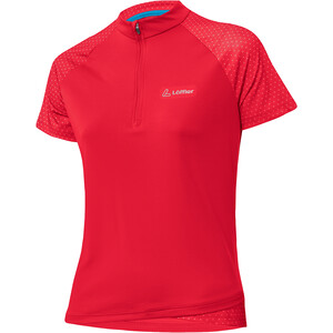 Löffler Rise Half-Zip Bike Shirt Women flamenco flamenco