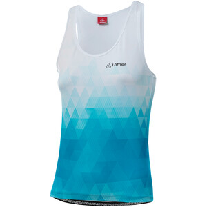 Löffler Evo Racerback Bike Top Women sea blue/white sea blue/white