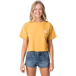 Rip Curl Keep On Surfin Crop T-Shirt Damen yellow yellow