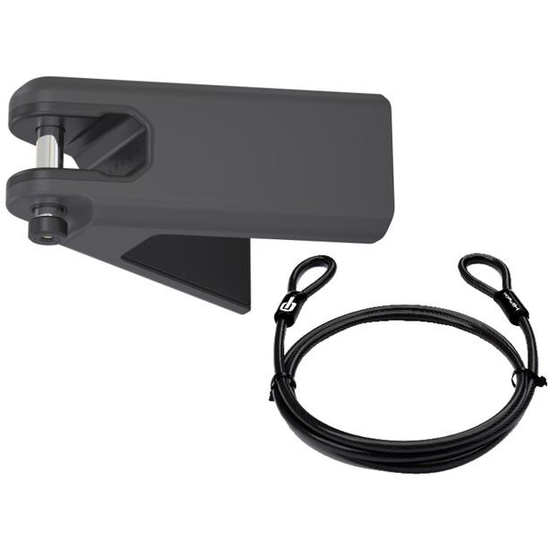 Hiplok Airlok Plus Wandhalterung inkl. Stahlseil black