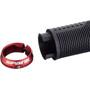 Spank Spike 33 Lock-On Grips black/red