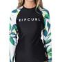 Rip Curl Blanco Bay Relaxed T-shirt manches longues anti-UV Femme, noir/blanc noir/blanc