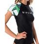 Rip Curl Blanco Bay Relaxed Kurzarm UV T-Shirt Damen schwarz/weiß
