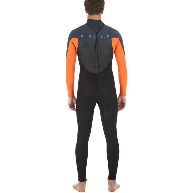 Rip Curl Omega 3/2 Back Zip Steamer Wetsuit Herren orange