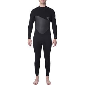 Rip Curl Omega 3/2 Back Zip Steamer Wetsuit Herren black black
