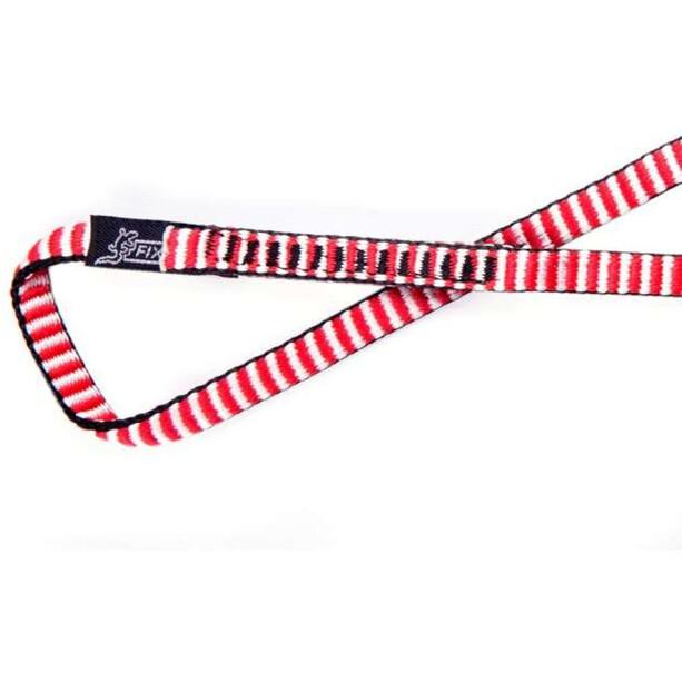 Fixe Dyneema Schlinge 180cm white/red