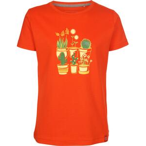 Elkline Plantsarefriends Camiseta Manga Corta Niñas, naranja naranja