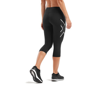 2XU Bonded Mid-Rise 3/4 Kompressiotrikoot Naiset, black/galaxy white black/galaxy white