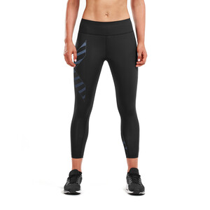 2XU Bonded Mid-Rise 7/8 Kompressions Tights Damen black/paint stripe outer space black/paint stripe outer space