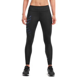 2XU Bonded Mid-Rise Kompressions Tights Damen black/paint stripe outer space black/paint stripe outer space